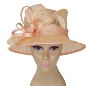 Dusty Pink Dress Church Hat